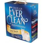 EVER CLEAN Less Track Наполнитель для длинношерстных кошек 6кг (желтая полоса)