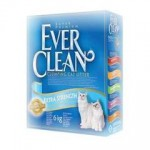 EVER CLEAN Extra Strength Unscented Наполнитель для кошек без ароматизатора 10кг (голубая полоса)