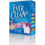 EVER CLEAN Multi Crystal Blend Наполнитель для кошек с добавлением кристаллов 10кг (сиреневая полоса)