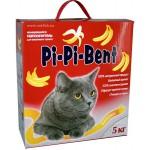 """Наполнитель Pi-Pi-Bent """"Bananas"""" комкующийся для кошек (коробка) 5кг"""