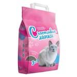 """Наполнитель """"Счастливые Лапки""""  для кошек комкующийся 3кг"""