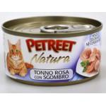 53068 PETREET Кон.д/кошек Кусочки розового тунца с макрелью 70гр*12