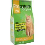 Pronature  Пронатюр 28 сухой Корм для Взрослых кошек цыпленок 20кг