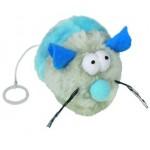 71922/62684 NOBBY Игрушка для кошек МЫШКА ЗАВОДНАЯ С МЯТОЙ 8см голубая